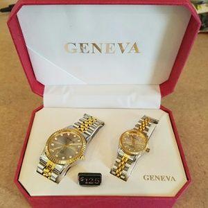 Geneva/ His & Her matching watches